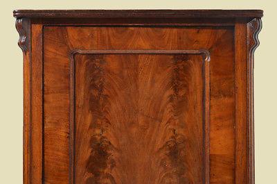 Antike Louis Philippe Mahagoni Schrank Vertiko Kommode von 1870 10