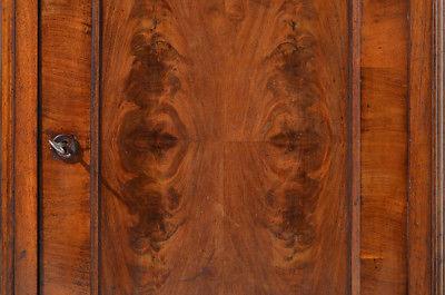 Antike Louis Philippe Mahagoni Schrank Vertiko Kommode von 1870 11