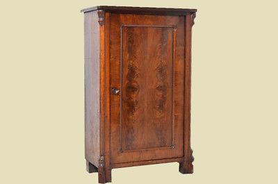 Antike Louis Philippe Mahagoni Schrank Vertiko Kommode von 1870 2