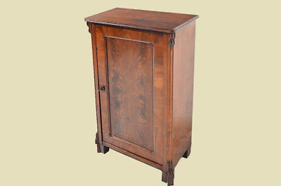 Antike Louis Philippe Mahagoni Schrank Vertiko Kommode von 1870 3