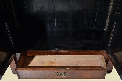 Antiker Gründerzeit Nußbaum Bücherschrank Schrank Schublade von 1880 4
