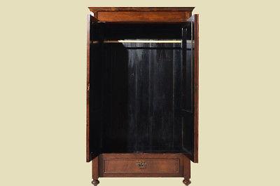Antiker Gründerzeit Nußbaum Bücherschrank Schrank Schublade von 1880 5