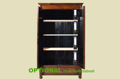 Antiker Gründerzeit Nußbaum Bücherschrank Schrank Schublade von 1880 6
