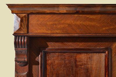 Antiker Gründerzeit Nußbaum Bücherschrank Schrank Schublade von 1880 8