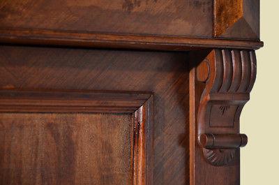 Antiker Gründerzeit Nußbaum Bücherschrank Schrank Schublade von 1880 9