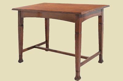 Antiker Jugendstil Nußbaum Esstisch Tisch Schreibtisch von 1920 1