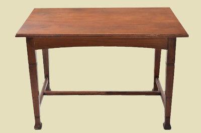 Antiker Jugendstil Nußbaum Esstisch Tisch Schreibtisch von 1920 2