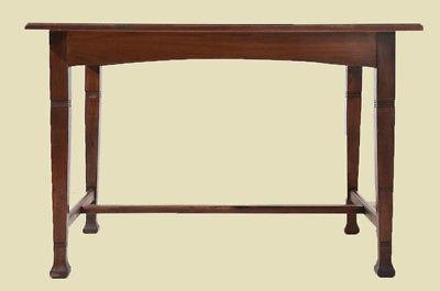 Antiker Jugendstil Nußbaum Esstisch Tisch Schreibtisch von 1920 3