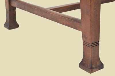 Antiker Jugendstil Nußbaum Esstisch Tisch Schreibtisch von 1920 8