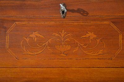 Empire Regency Barock Mahagoni Intarsien Schreibtisch Sekretär 10
