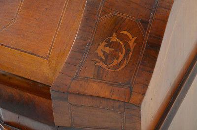 Empire Regency Barock Mahagoni Intarsien Schreibtisch Sekretär 11