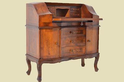 Empire Regency Barock Mahagoni Intarsien Schreibtisch Sekretär 2