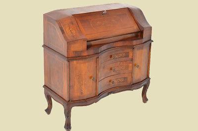 Empire Regency Barock Mahagoni Intarsien Schreibtisch Sekretär 5