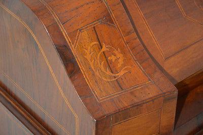 Empire Regency Barock Mahagoni Intarsien Schreibtisch Sekretär 9