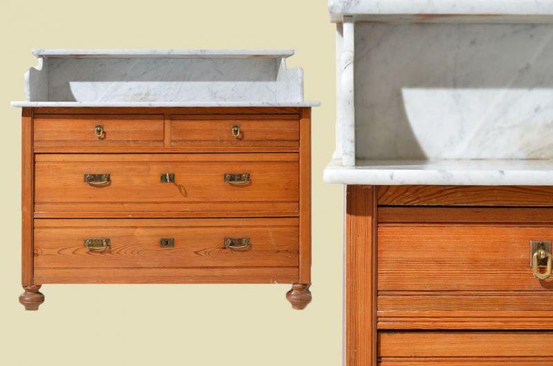 kiefer kommode top antike jugendstil kiefer waschtisch kommode mit marmor von with kiefer. Black Bedroom Furniture Sets. Home Design Ideas