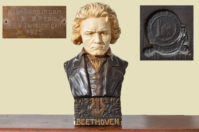 Original Antike Beethoven Büste von 1925