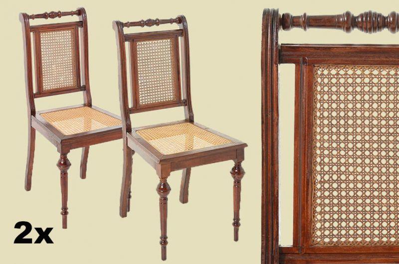 2x Antik Erneuerte Gründerzeit Walzenstühle Walzenstuhl Stühle Von 1880 0