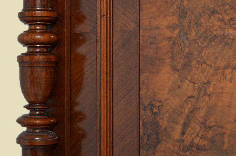 Antiker Gründerzeit Kleiderschrank Säulen & Schublade von 1880 11