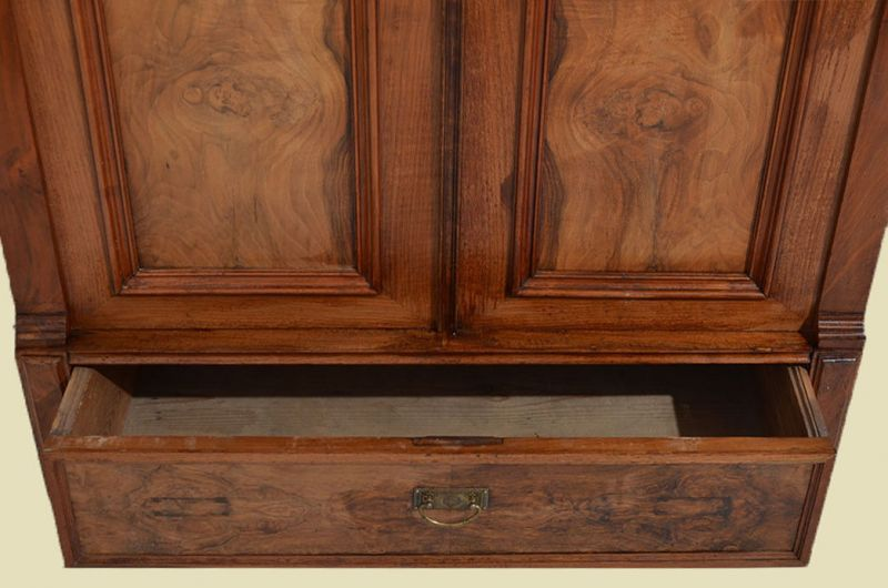 Antiker Jugendstil Schrank Kleiderschrank mit Schublade von 1920 4