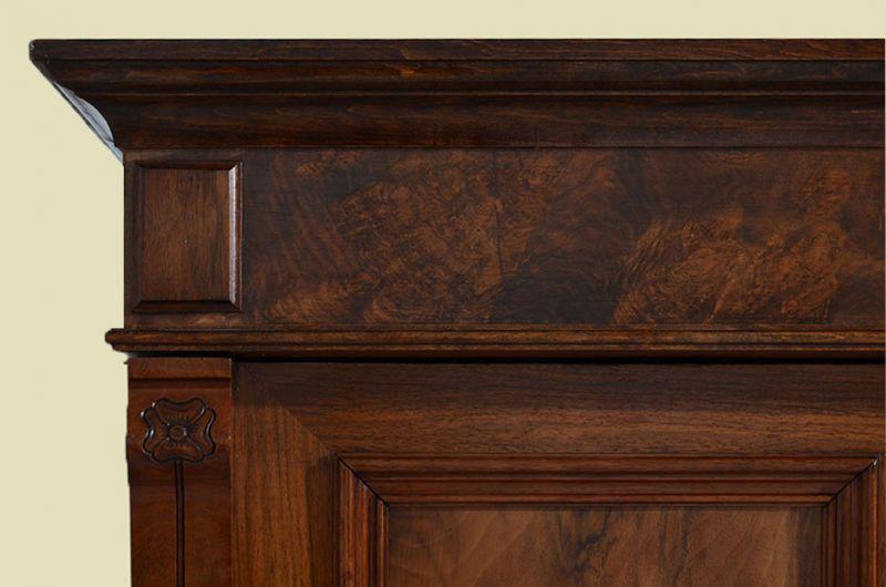 Antiker Jugendstil Schrank Kleiderschrank mit Schublade von 1920 9