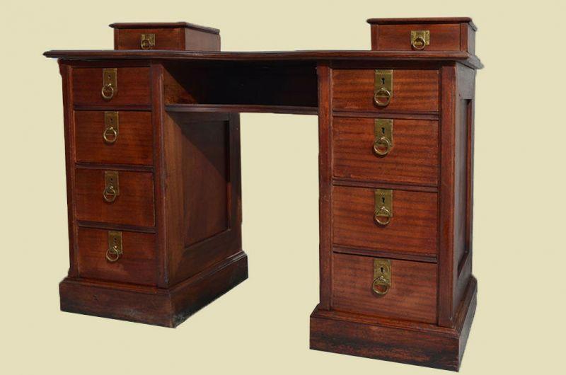 Schöner Antiker Jugendstil Sekretär Schreibtisch Mit Aufsatz Von