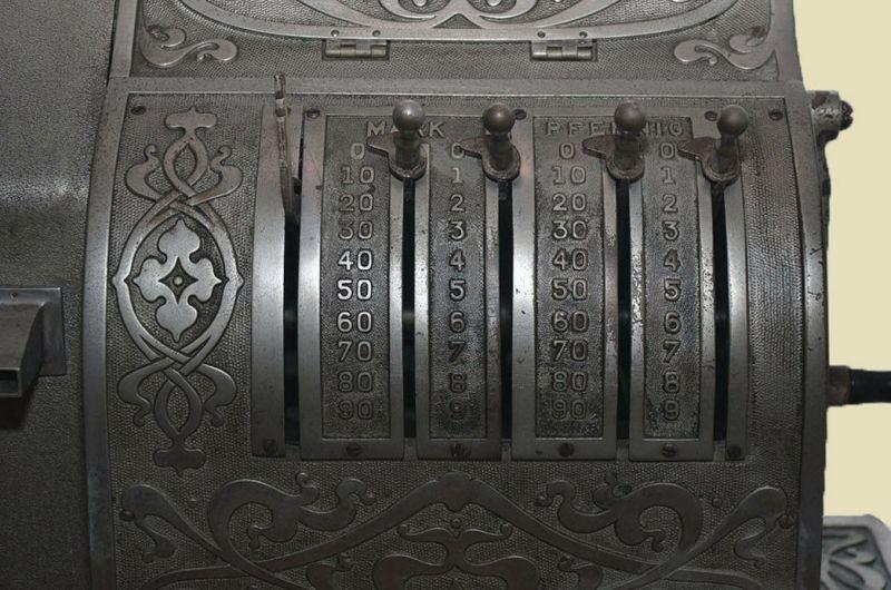 Antike Jugendstil NATIONAL Kasse Registrierkasse von 1905 - funktionstüchtig 9
