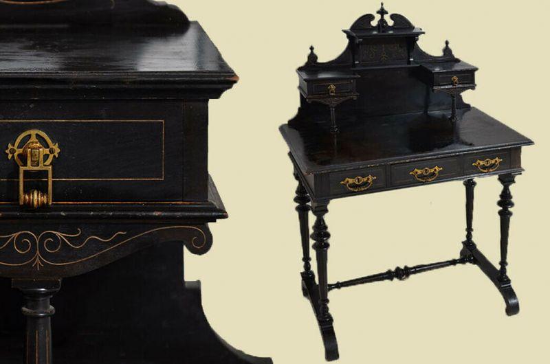 Schöner Antiker Gründerzeit Schreibtisch Damenschreibtisch Sekretär von 1880
