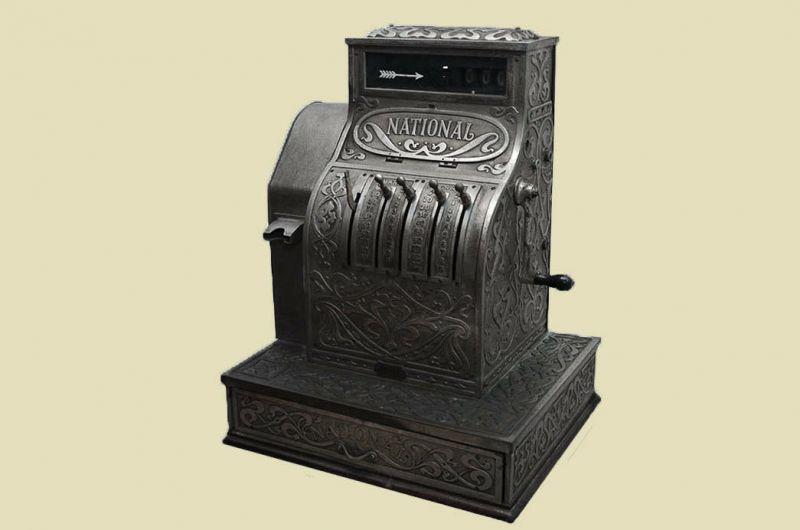 Antike Jugendstil NATIONAL Kasse Registrierkasse von 1905 - funktionstüchtig 1