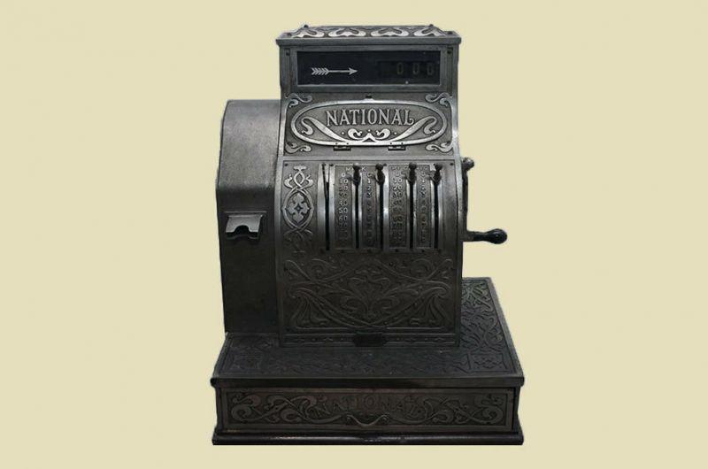 Antike Jugendstil NATIONAL Kasse Registrierkasse von 1905 - funktionstüchtig 2
