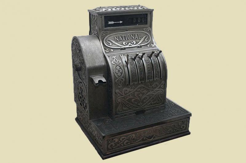 Antike Jugendstil NATIONAL Kasse Registrierkasse von 1905 - funktionstüchtig 3