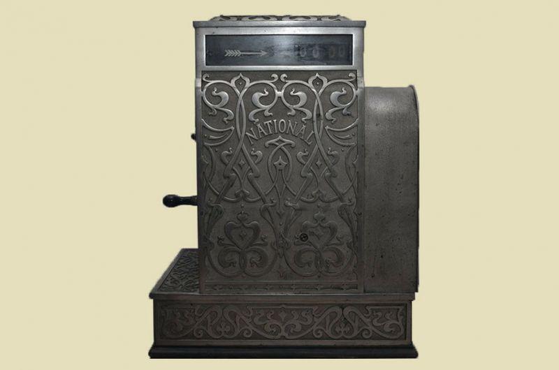 Antike Jugendstil NATIONAL Kasse Registrierkasse von 1905 - funktionstüchtig 5