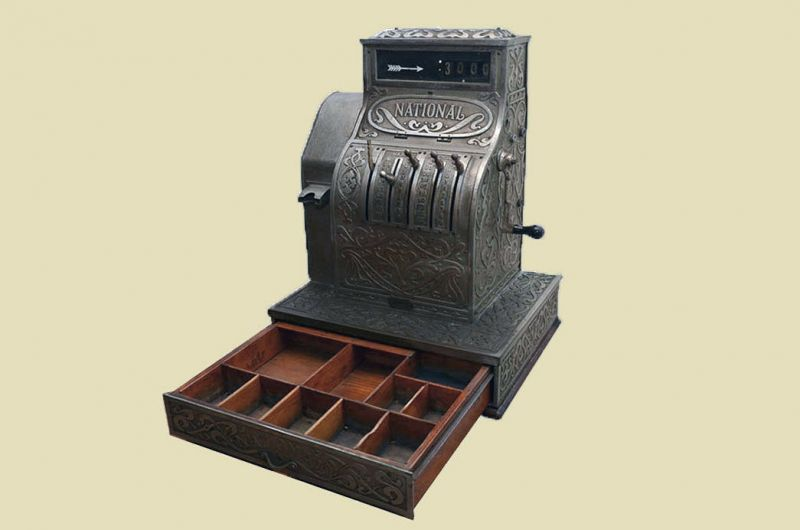 Antike Jugendstil NATIONAL Kasse Registrierkasse von 1905 - funktionstüchtig 7