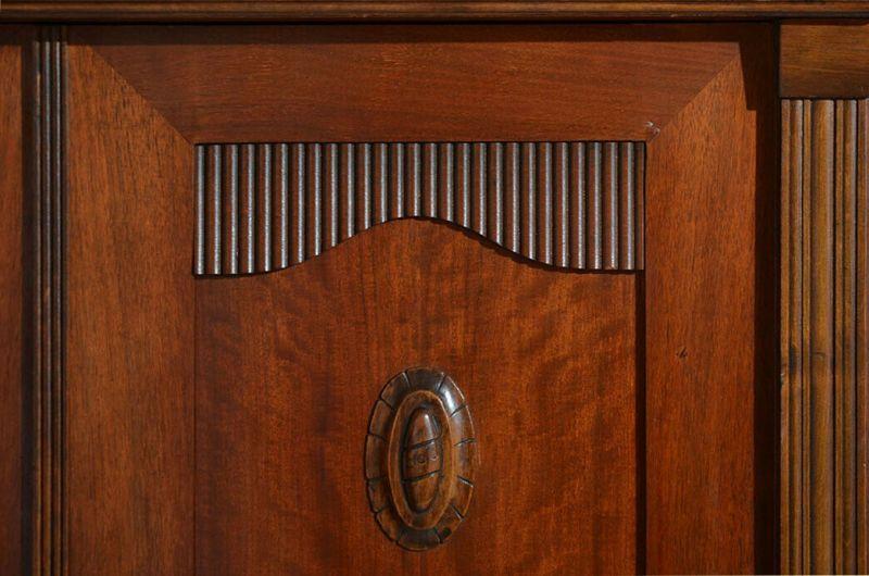 Antiker Jugendstil Kleiderschrank Schrank mit Schnitzerei von 1920 10