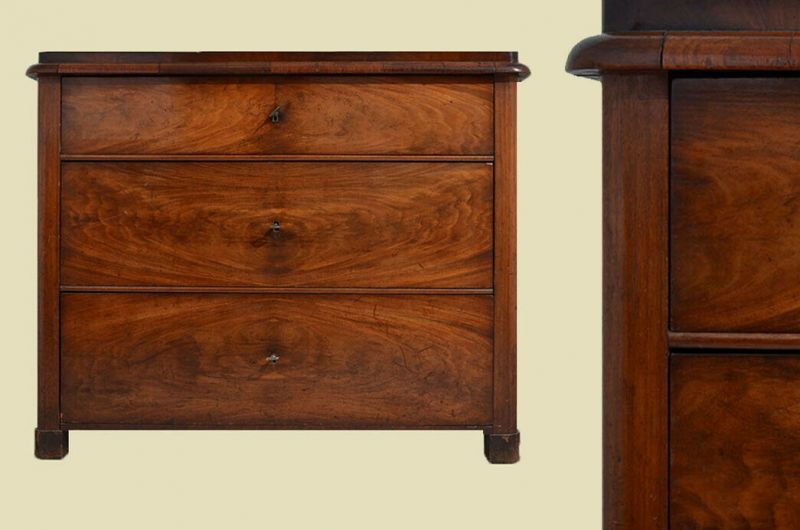TOP Antike Art Déco / 2.Biedermeier Mahagoni Kommode von 1920