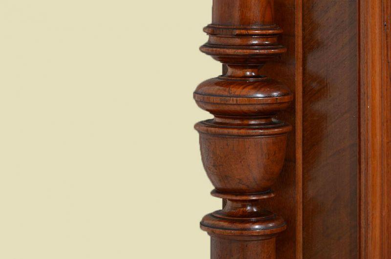 Antiker Gründerzeit Nußbaum Säulen Vertiko Schrank von 1880 10