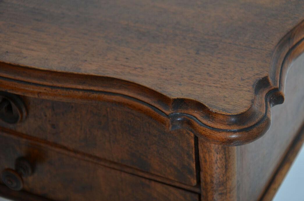 Antiker Louis Philippe Nußbaum Beistelltisch Tisch Nähtisch von 1860 8