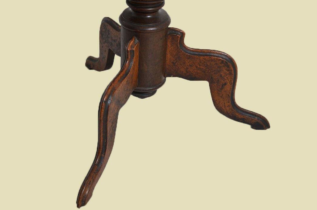 Antiker Louis Philippe Nußbaum Beistelltisch Tisch Nähtisch von 1860 9