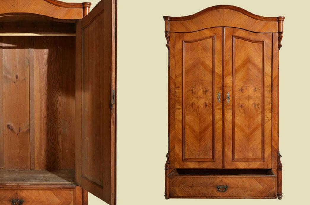 Antik Louis Philippe Kirsche Kleiderschrank m Schublade von 1870