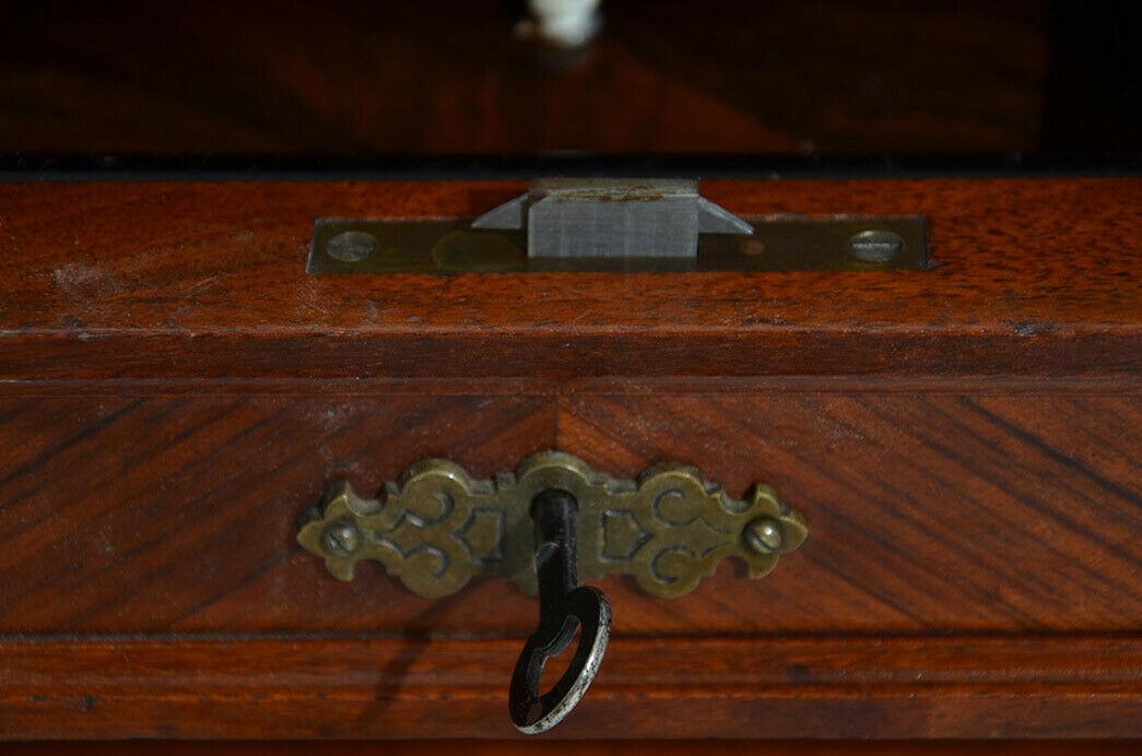 Antiker Gründerzeit Schachtisch Schachbrett Spieltisch Nähtisch von 1880 10