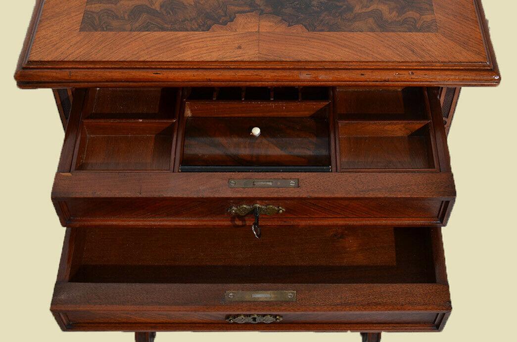 Antiker Gründerzeit Schachtisch Schachbrett Spieltisch Nähtisch von 1880 8