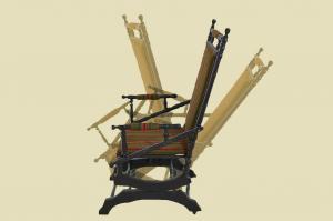 Antiker Gründerzeit Western 'Amerikan Rocking Chair' Schaukelstuhl von 1880