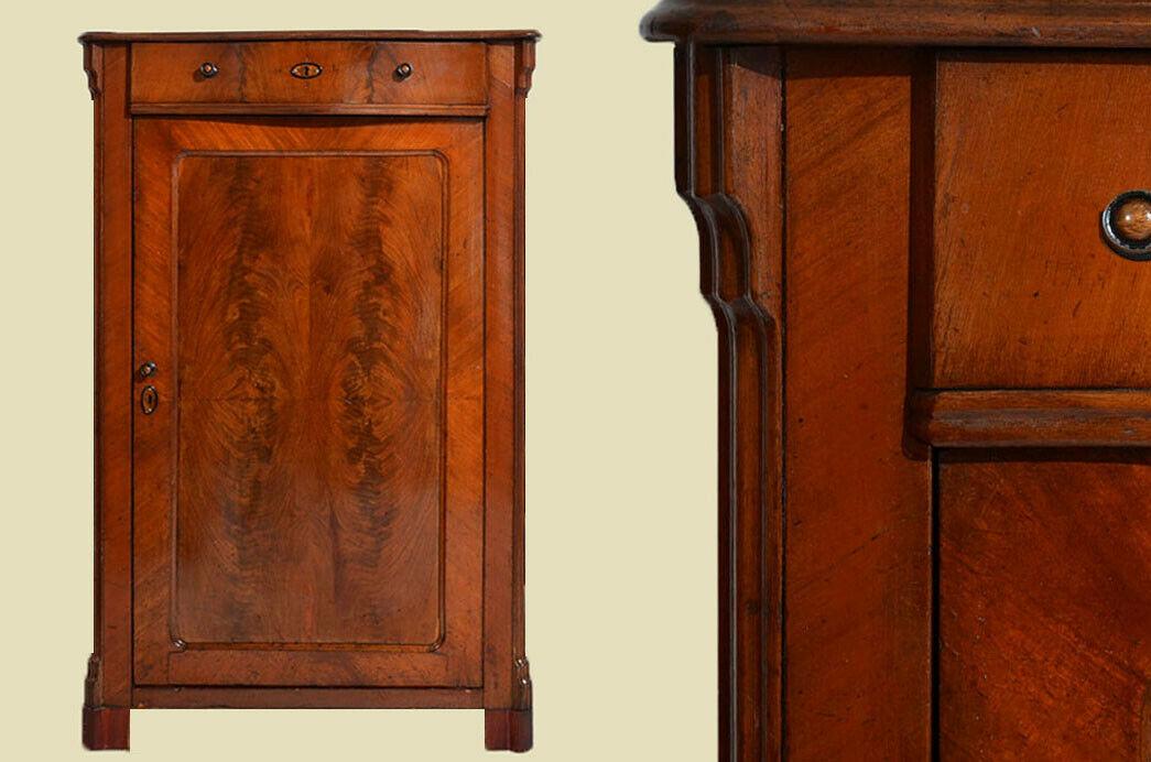 Antikes Louis Philippe Mahagoni Schrank Kommode Vertiko von 1870 0