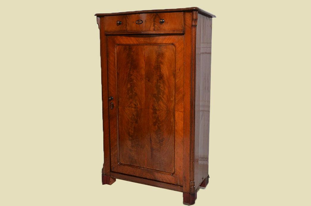 Antikes Louis Philippe Mahagoni Schrank Kommode Vertiko von 1870 2