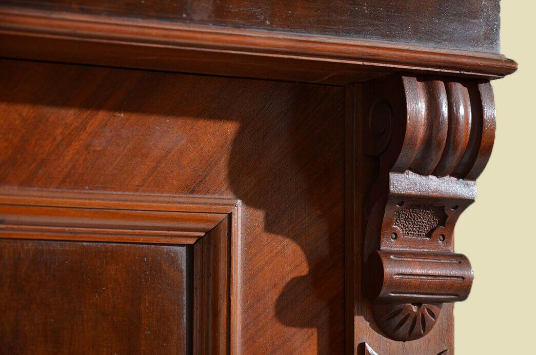 Antik Gründerzeit Nußbaum Kleiderschrank Schrank von 1880 9