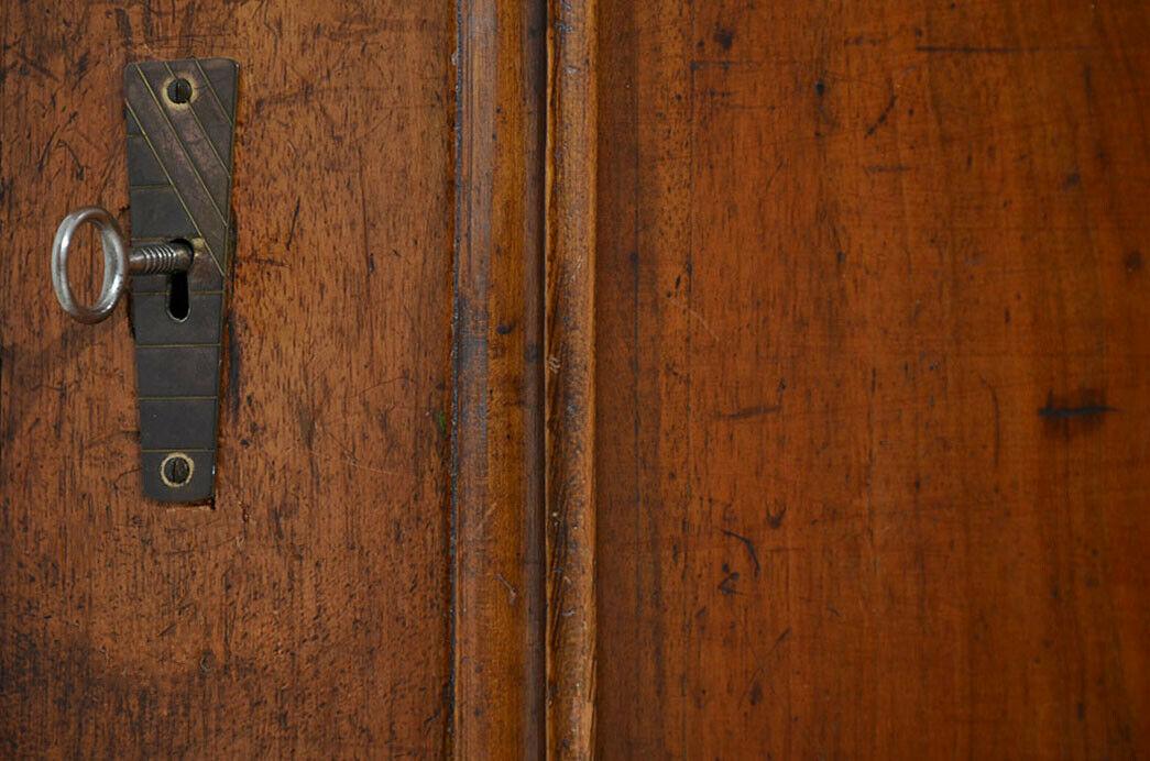 Antik Louis Philippe Wäscheschrank Kleiderschrank Schrank von 1870 11