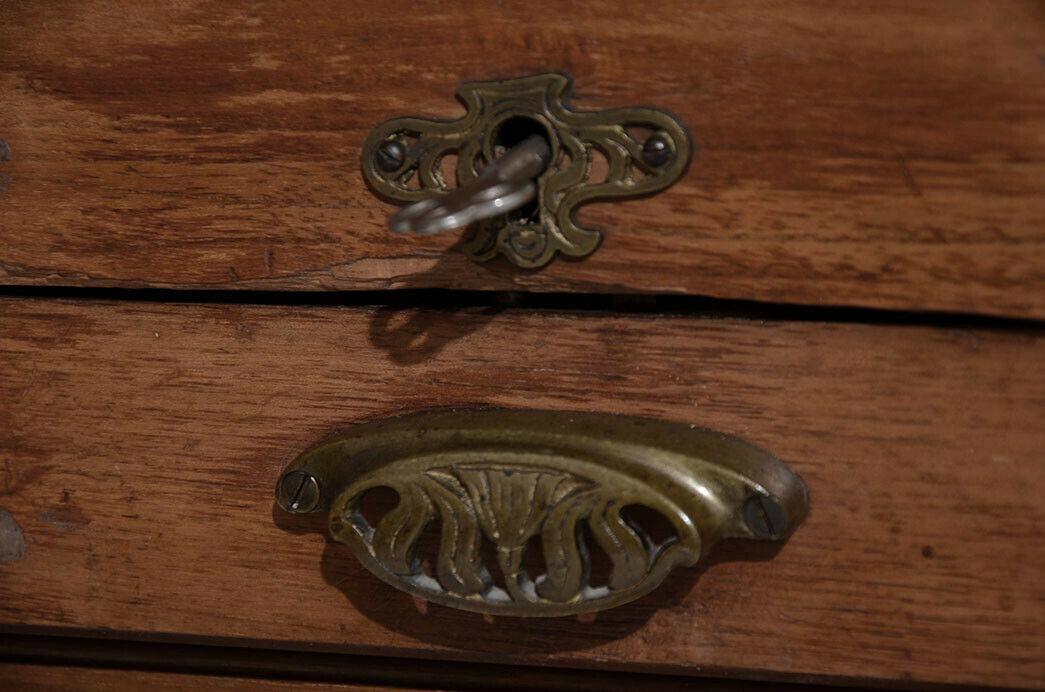 Antiker Jugendstil Eiche Rolladenschrank Notenschrank von 1920 10