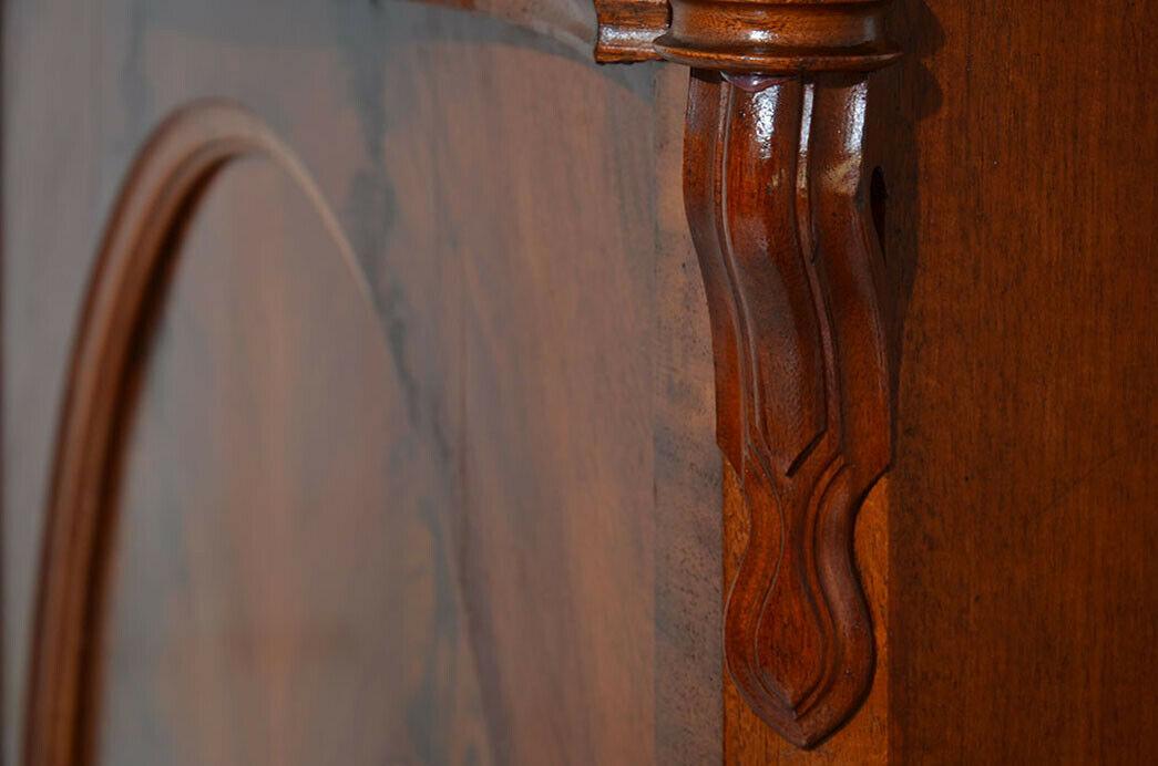 Antikes Louis Philippe Mahagoni Schrank Kommode Vertiko von 1870 10
