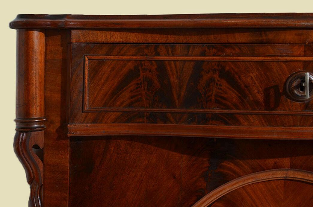 Antikes Louis Philippe Mahagoni Schrank Kommode Vertiko von 1870 9