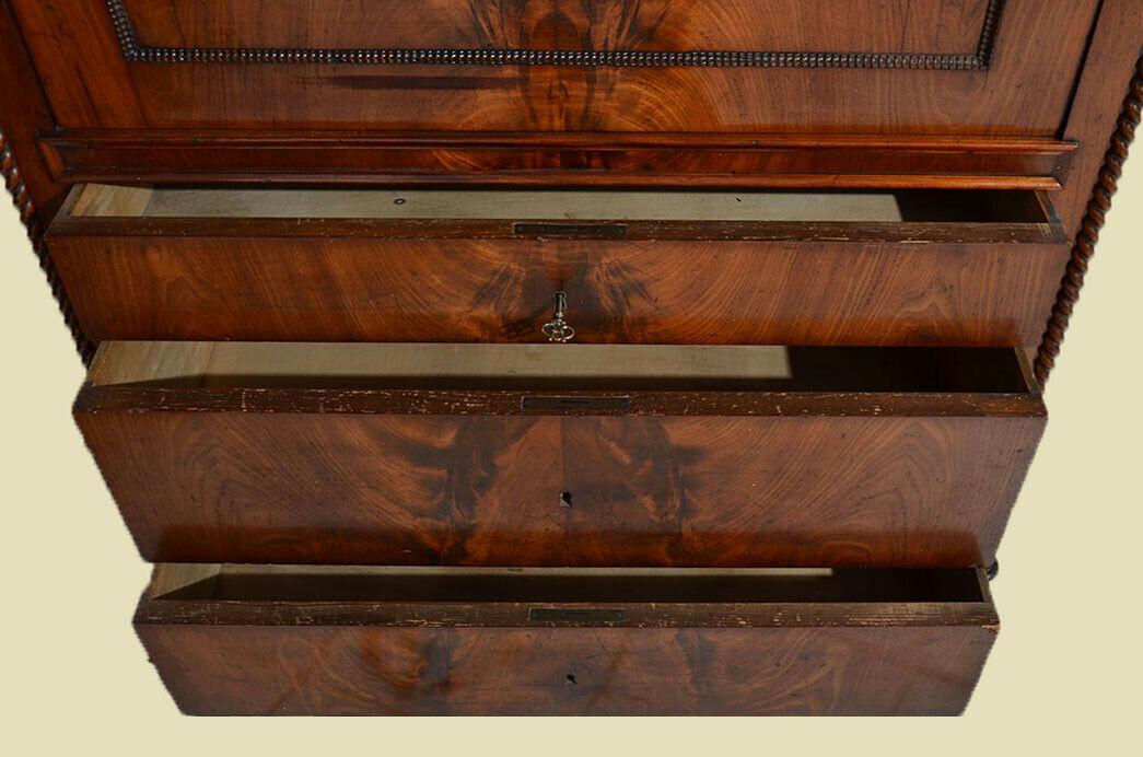 Antiker Louis Philippe Mahagoni Schreibtisch Sekretär von 1860 10