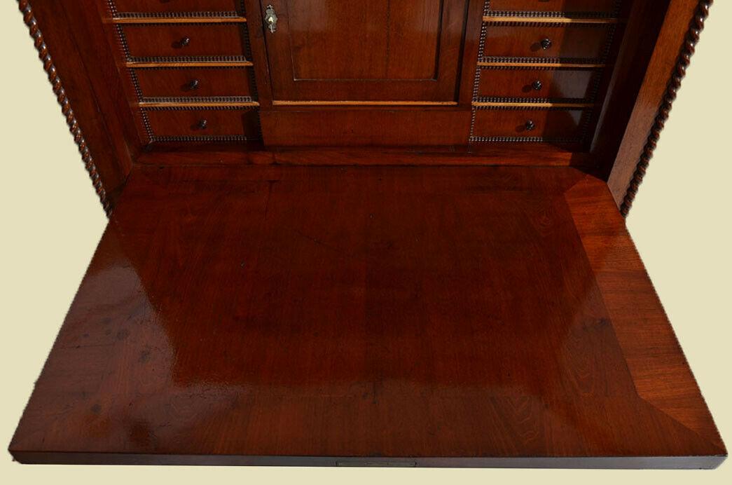 Antiker Louis Philippe Mahagoni Schreibtisch Sekretär von 1860 6
